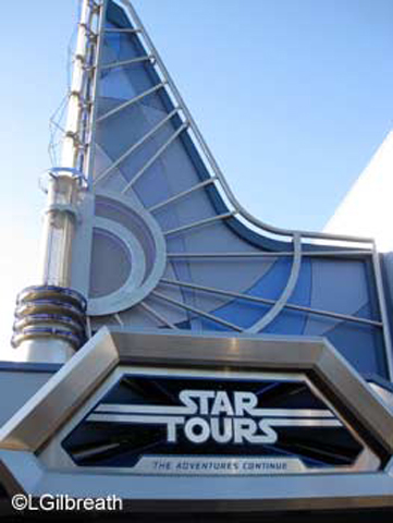 Star Tours sign