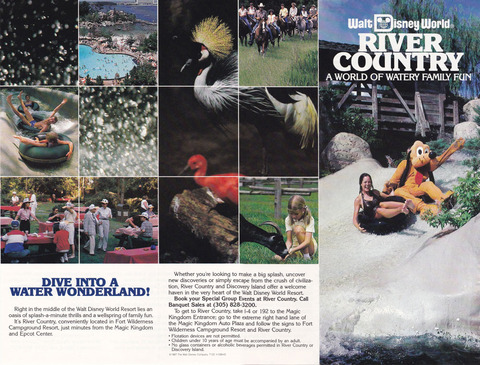 1987 River Country Brochure outside