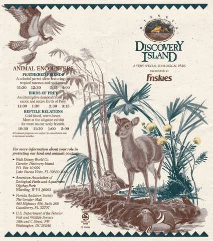1990s Discovery Island Brochure pg 1