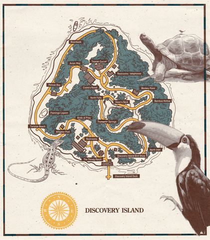 1990s Discovery Island Brochure pg 2