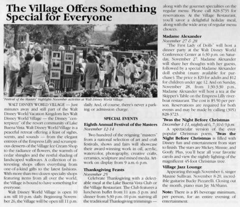 November 1982 The Village