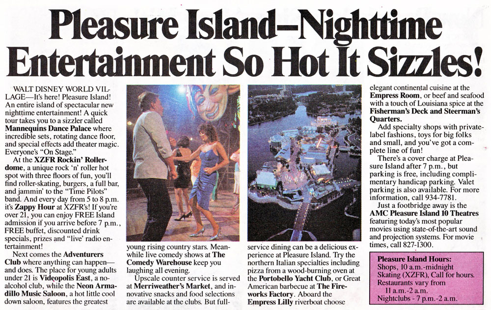 Pleasure island comedy club