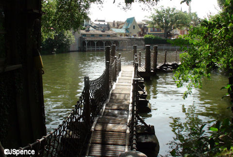 Tom Sawyer Island Floating Bridge