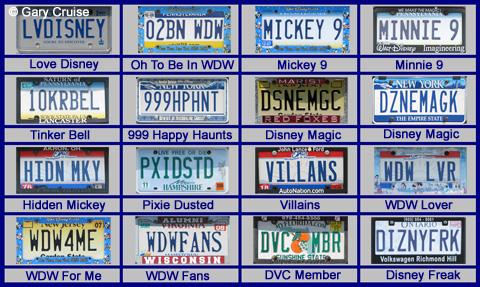 Disney Vanity Plates - AllEars Net