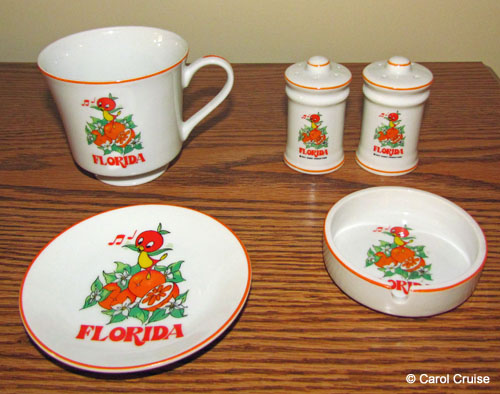 Vintage Orange Bird china