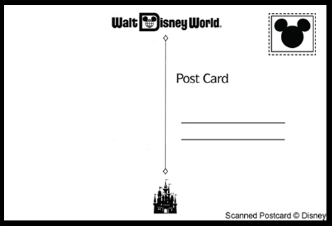 WDW Post Card Back