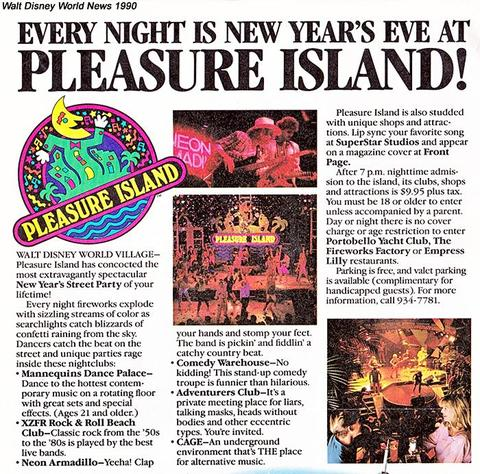 Walt Disney World News 1990 Pleasure Island