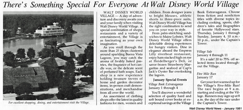 Walt Disney World News February 1981