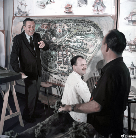 Walt and Disneyland Map
