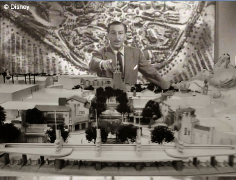 Walt and Disneyland Model