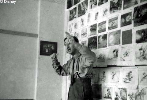 Walt and a Storyboard