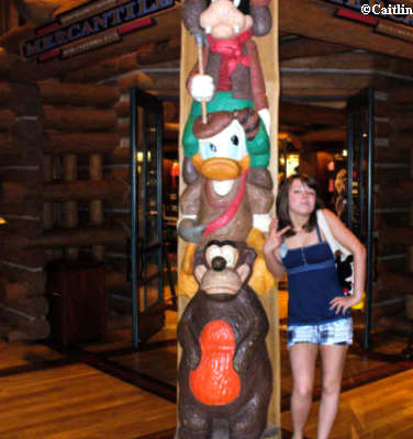 Caitlin at the Wilderness Lodge