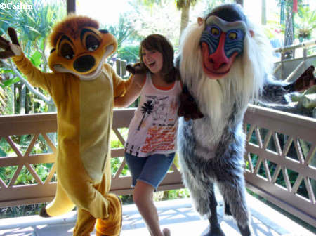 Caitlin Timon and Rafiki