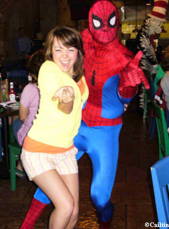 Caitlin and Spiderman