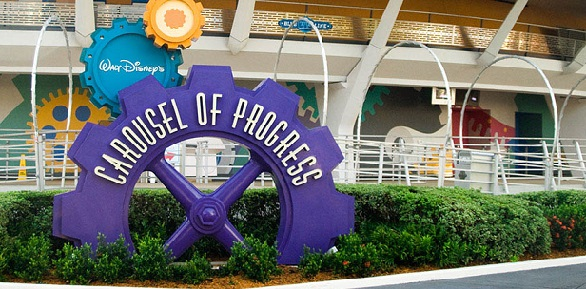 The Exterior Of Walt Disneys Carousel Progress In Tomorrowland Magic Kingdom At Disney World