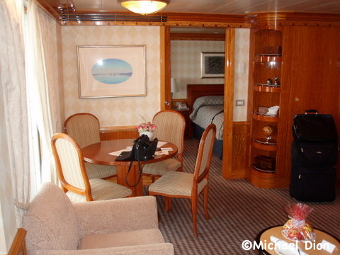 Disney Wonder Category 3 Cabin #8032 Living Room Area