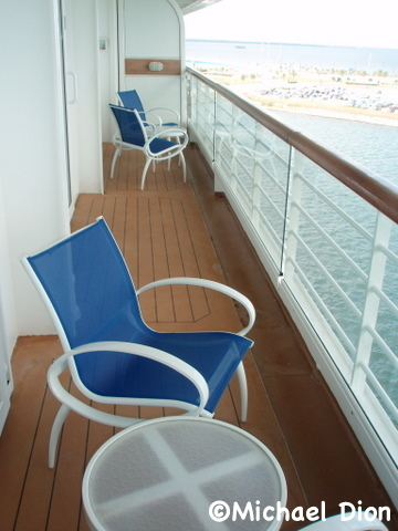 Disney Wonder Category 3 Cabin #8032 Verandah