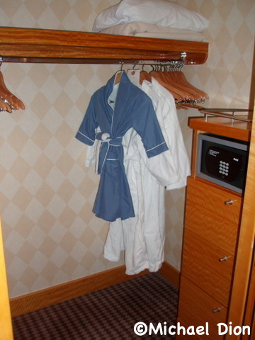 Disney Wonder Category 3 Cabin #8032 Closet