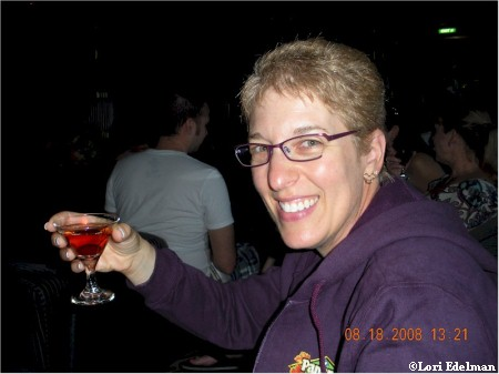 Lori Enjoys the Martini Tasting