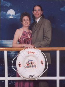 Lynn and Paul on the Disney Magic