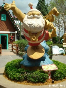 A relaxed Santa greets guests at Winter Summerland.