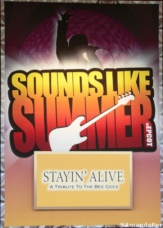 stayin alive sign at American Gardens Theatre Epcot