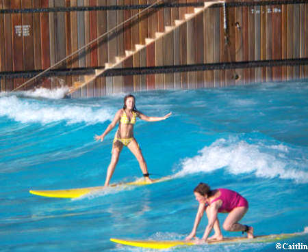 Caitlin Surfing at Typhoon Lagoon