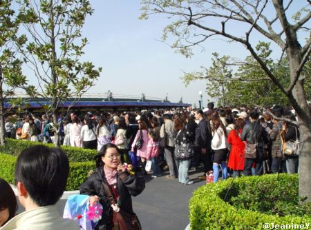Arriving at Tokyo Disneyland for Re-Dedication Ceremony