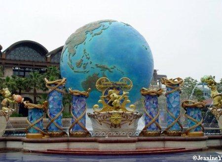 The big globe in Tokyo DisneySea Plaza