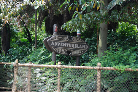 Adventureland in Hong Kong Disneyland