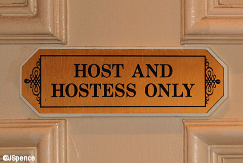 Host and Hostess Only Sign