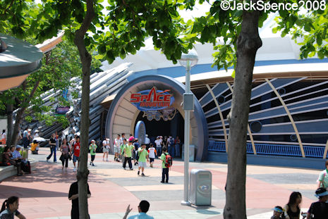 Space Mountain at Hong Kong Disneyland