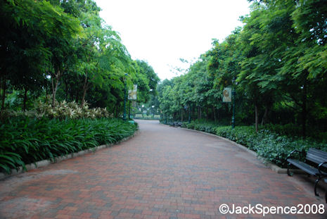 Walkway from hotel to Hong Kong Disney Park