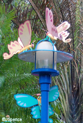 Butterfiles on to of Lamppost