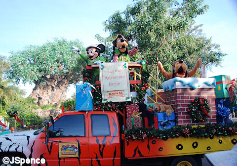 Flatbed Truck with Minnie, Goofy, and Pluto
