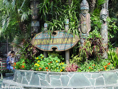 Adventureland Entrance off of The Hub