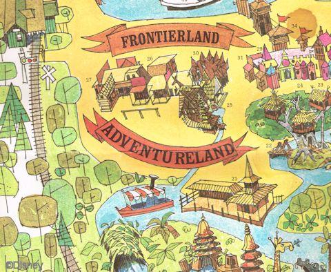 First Magic Kingdom Map