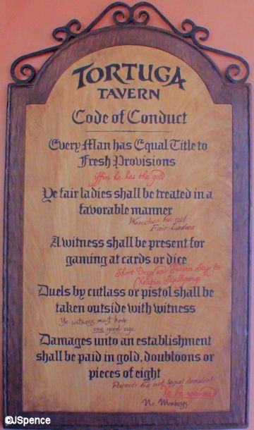 Tortuga Tavern Code of Conduct