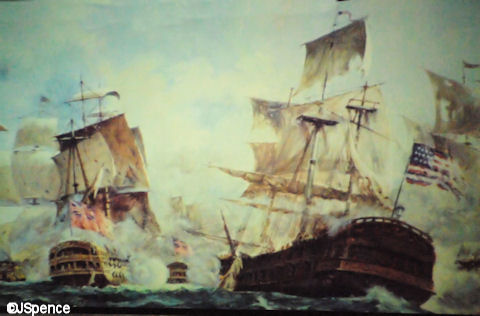 Sea Battle Between Britton and the U.S.