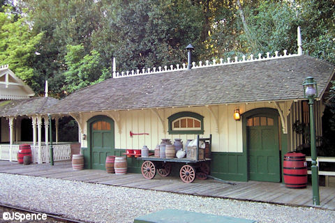New Orleans Square Train Station