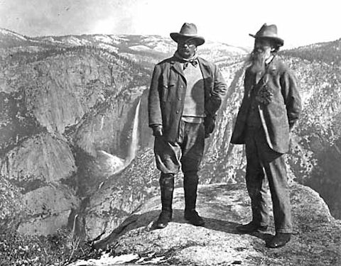 TR and Muir at Glacier Point