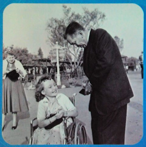 Walt with Girl in Wheelchair