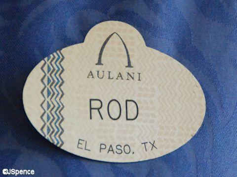 Aulani Cast Member Name Tag