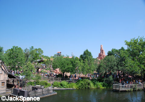 Big Thunder Mountain from a distance