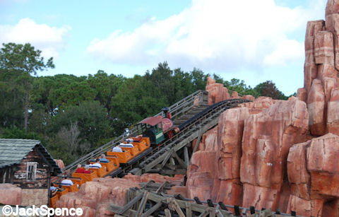 Racing around Big Thunder Mountain
