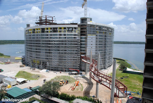 Bay Lake Tower Construction at Contemporary