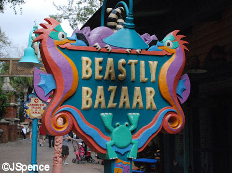 Beastly Bazaar Sign