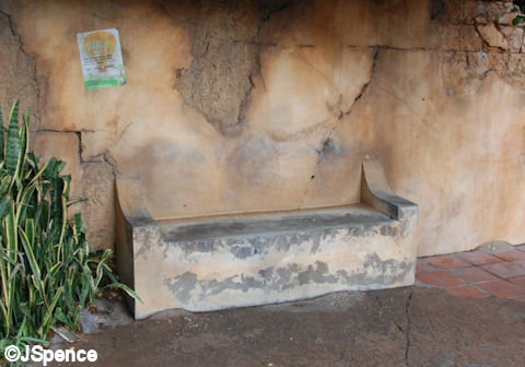 Africa Wall-Bench
