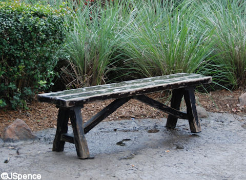 Asian Weathered Bench