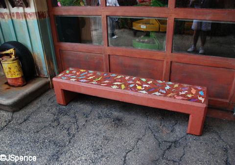 Dinosaur Bench